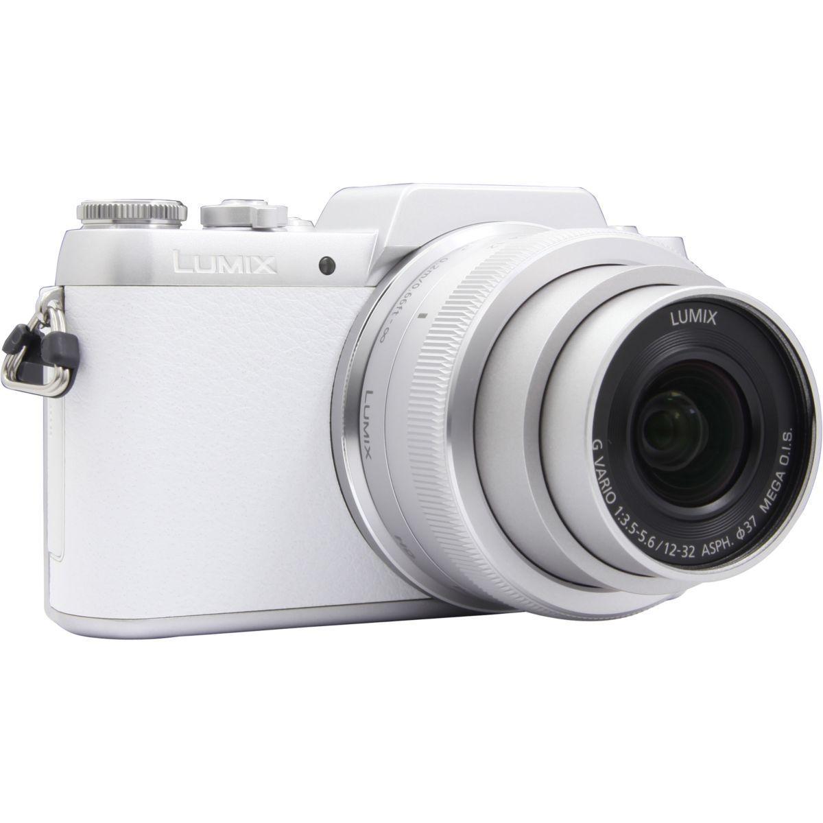 Appareil photo hybride panasonic dmc-gf7 blanc + 12-32mm - livraison offerte : code liv