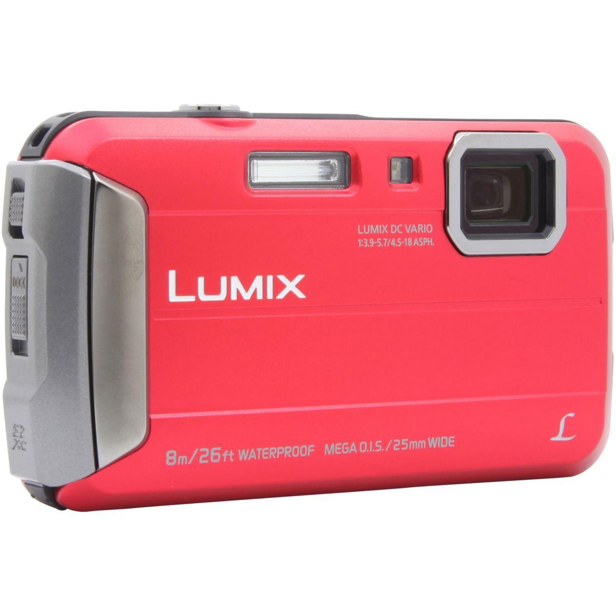 Appareil photo compact panasonic dmc-ft30 rouge (photo)