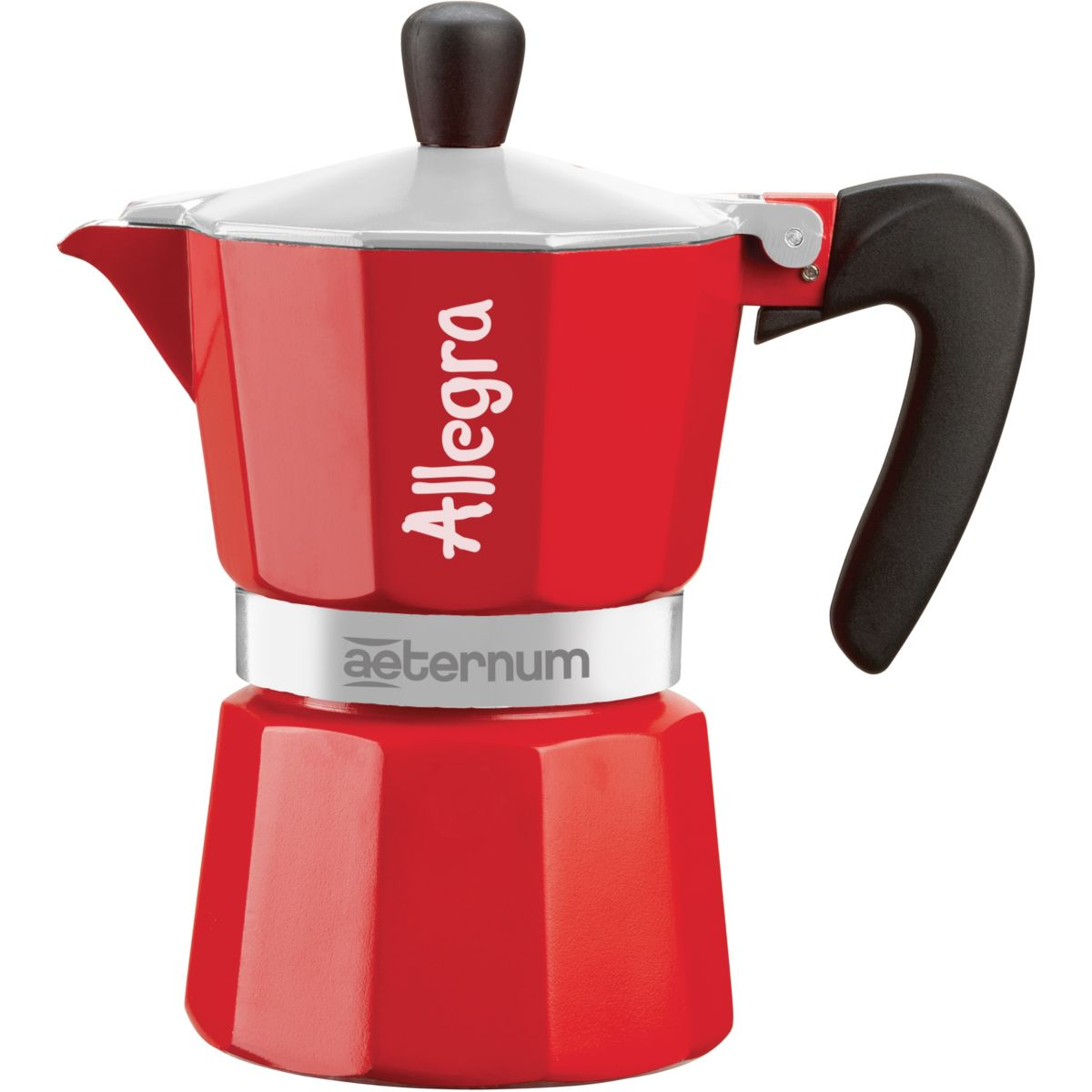 Cafetière bialetti allegra in sleeve 3 tasses red (photo)