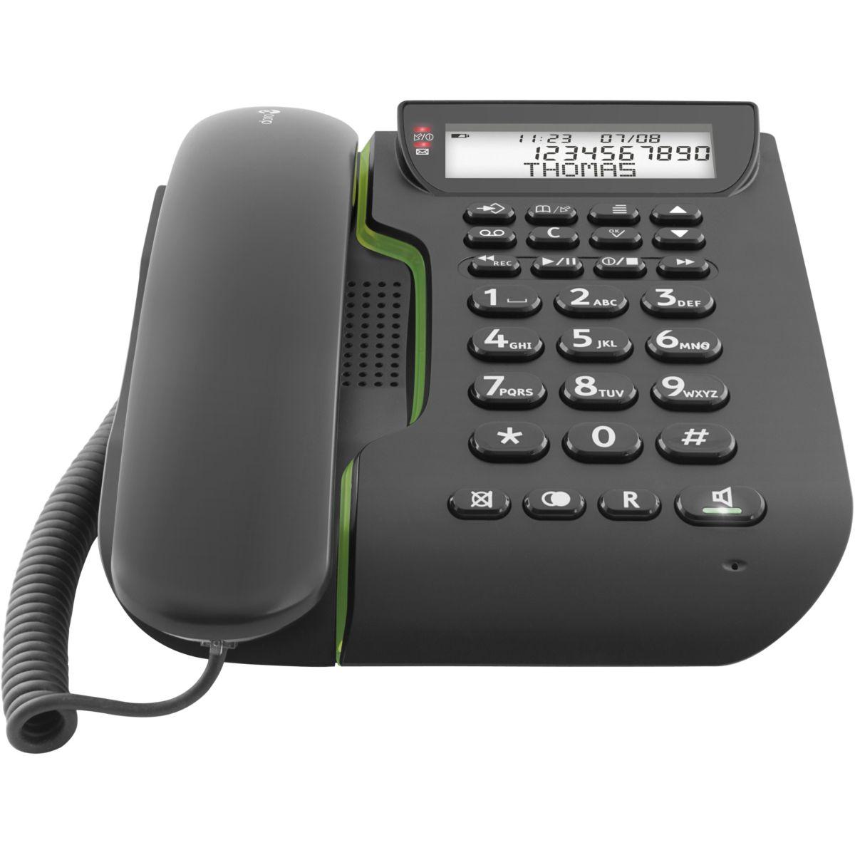 Téléphone filaire doro comfort 3005 noir - 2% de remise immédiate avec le code : cool2 (photo)