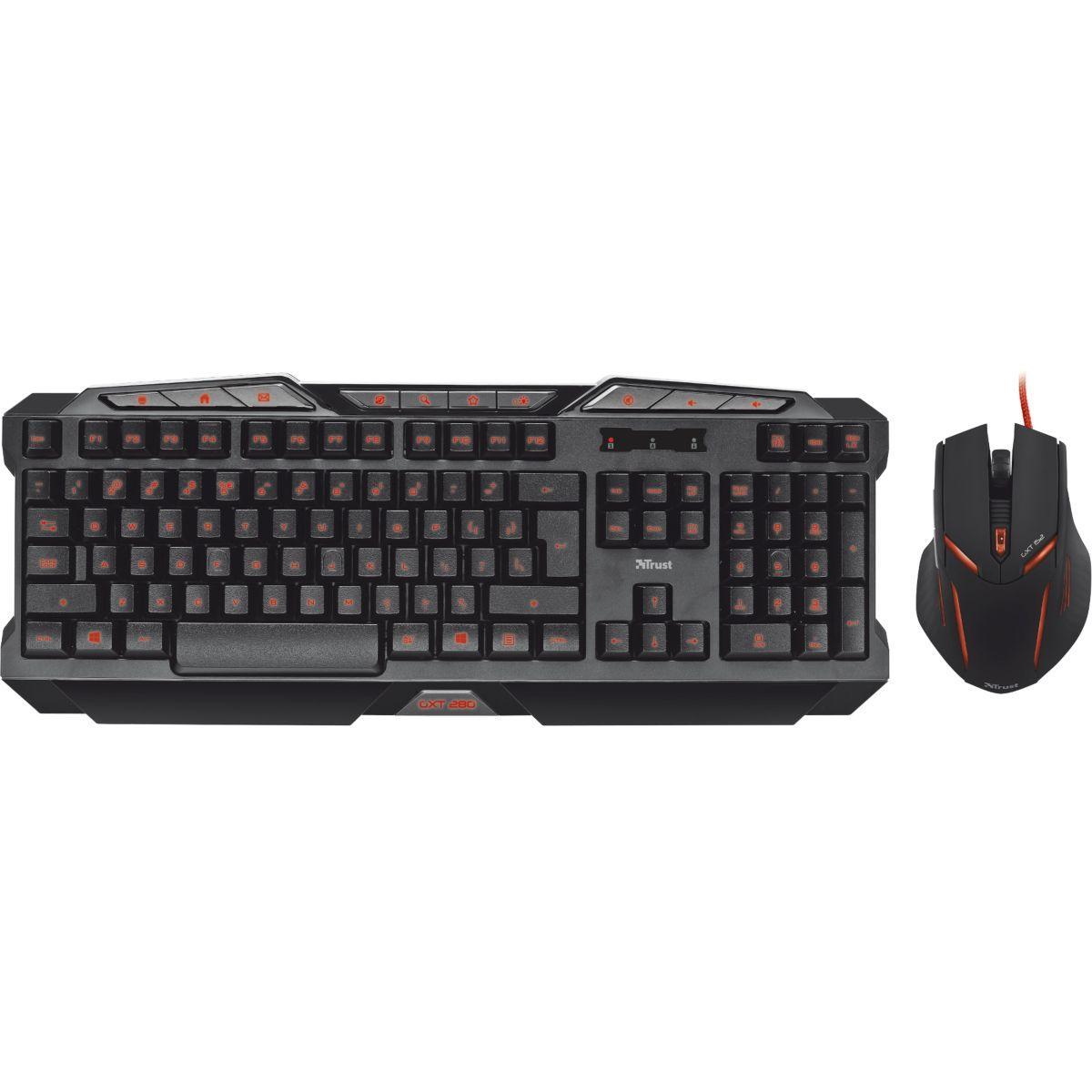Pack clavier + souris trust gaming gxt280 + gxt152 ¼ - soldes et bonnes affaires à prix imbattables
