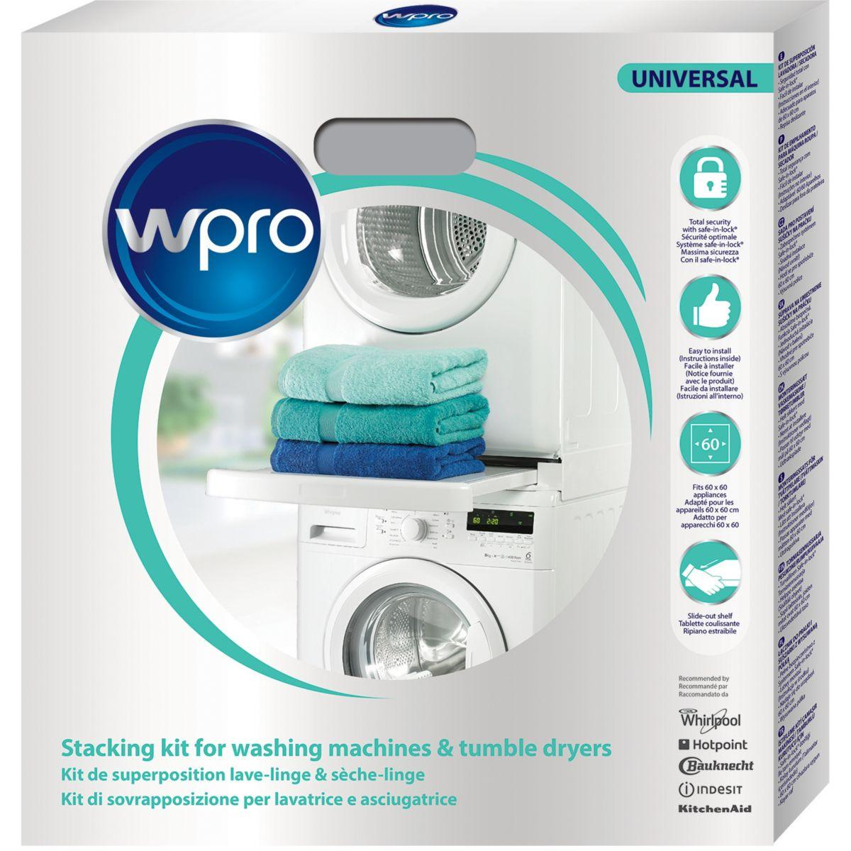Kit de superposition wpro kit wpro sks101 universel lave-linge/s�c (photo)