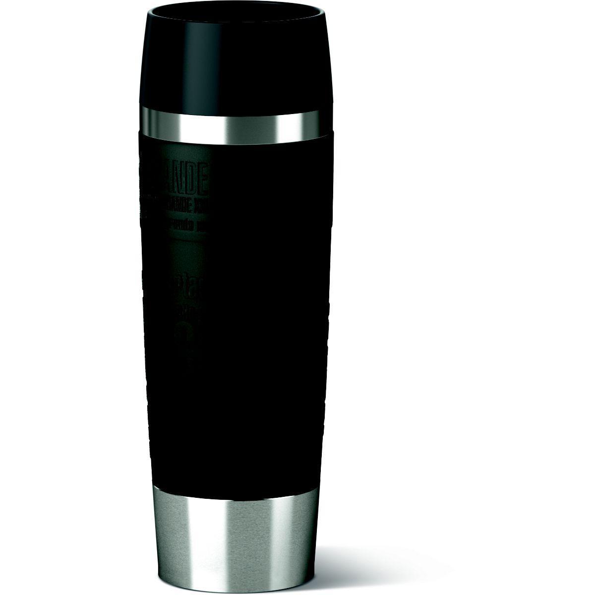 Mug isotherme emsa isotherme 0.5l inox/noir - livraison offerte : code liv (photo)