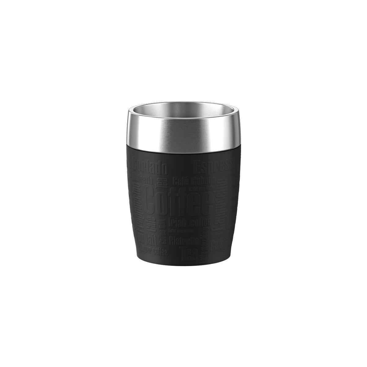 Mug emsa isotherme 0.2l inox/noir