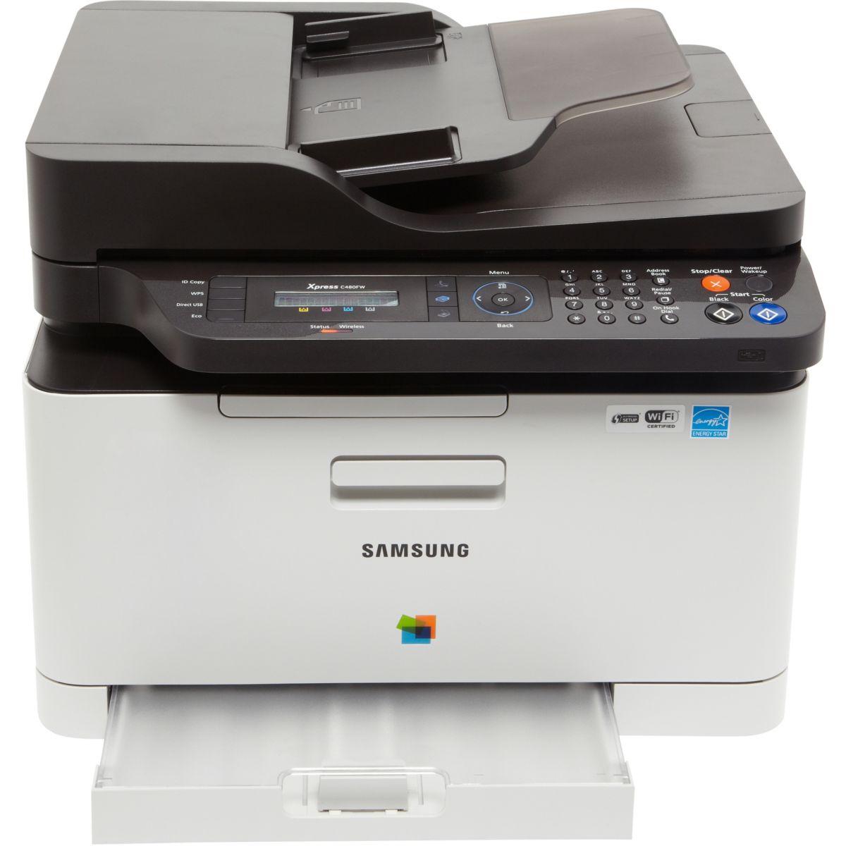 Imprimante multifonction laser couleur samsung sl-c480fw - livraison offerte : code liv (photo)