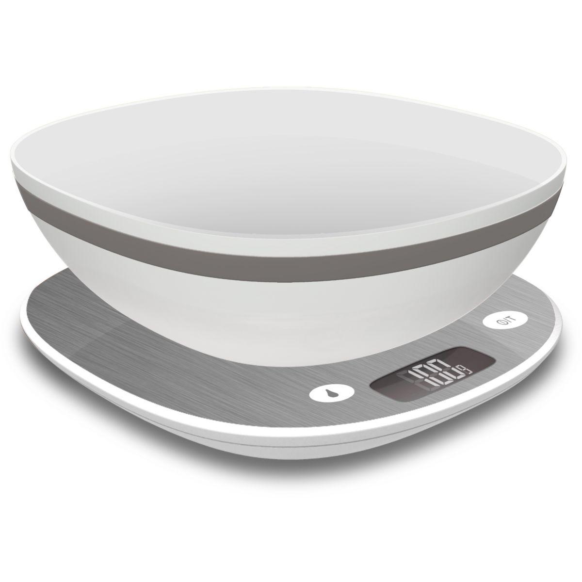 Balance electronique terraillon macaron givre + bol - 10% de remise immédiate avec le code : cool10