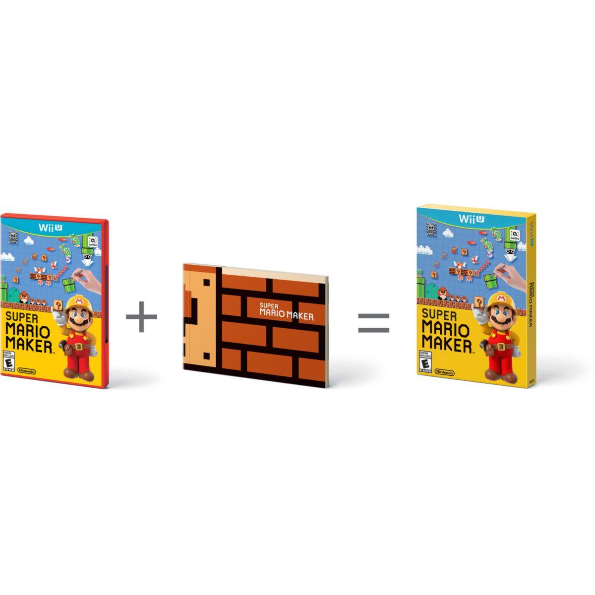 Jeu wii u nintendo super mario maker + artbook - 3% de remise immédiate avec le code : multi3