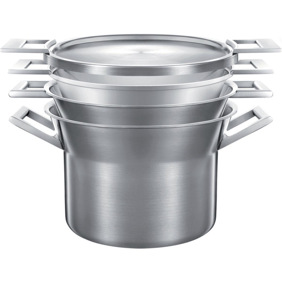 Batterie de cuisine castey artic 4 pces marmite-faitout - 20% de remise imm�diate avec le code : fete20 (photo)