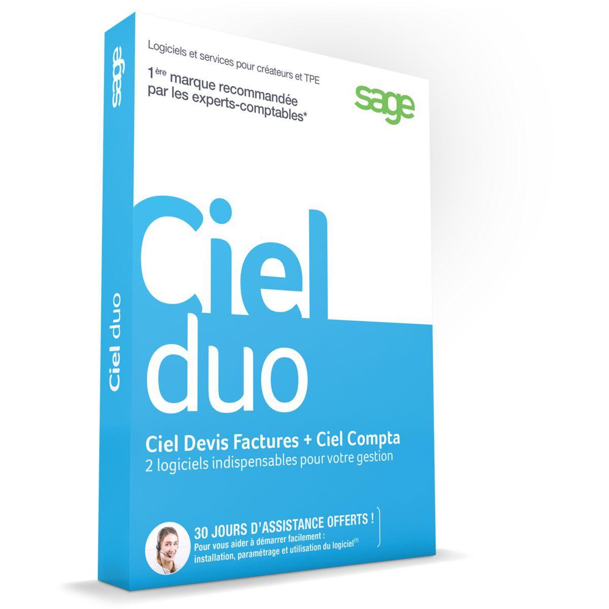 Logiciel pc ciel duo (compta + devis facture) - 2% de remise immédiate avec le code : cash2 (photo)