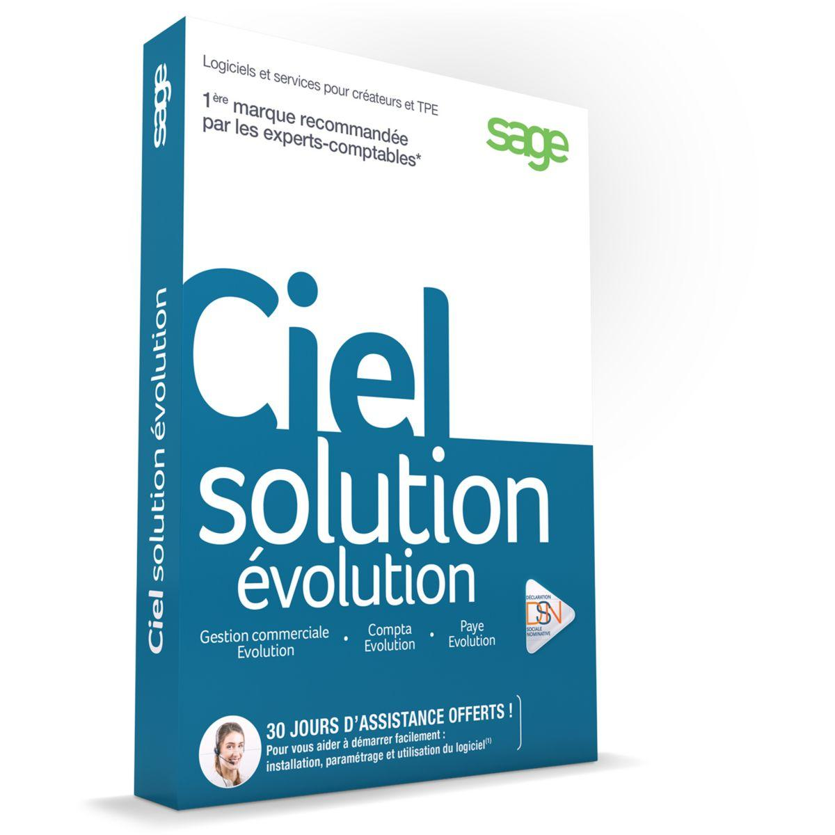 Logiciel pc ciel solution evolution (photo)