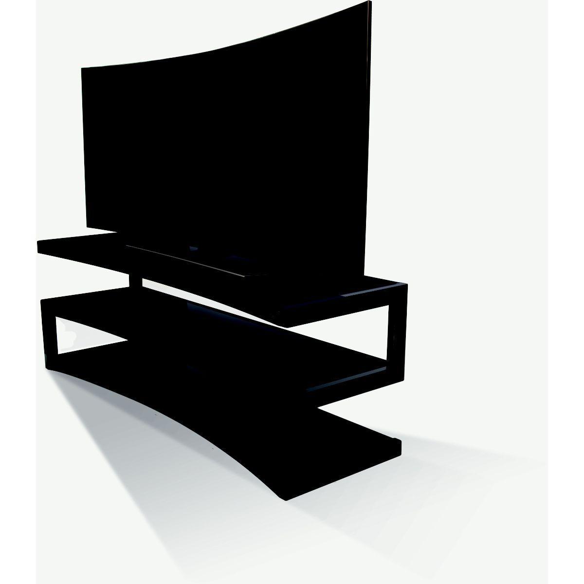 Meuble norstone esse curve noir laque/noir 1.5m 32-60p (photo)