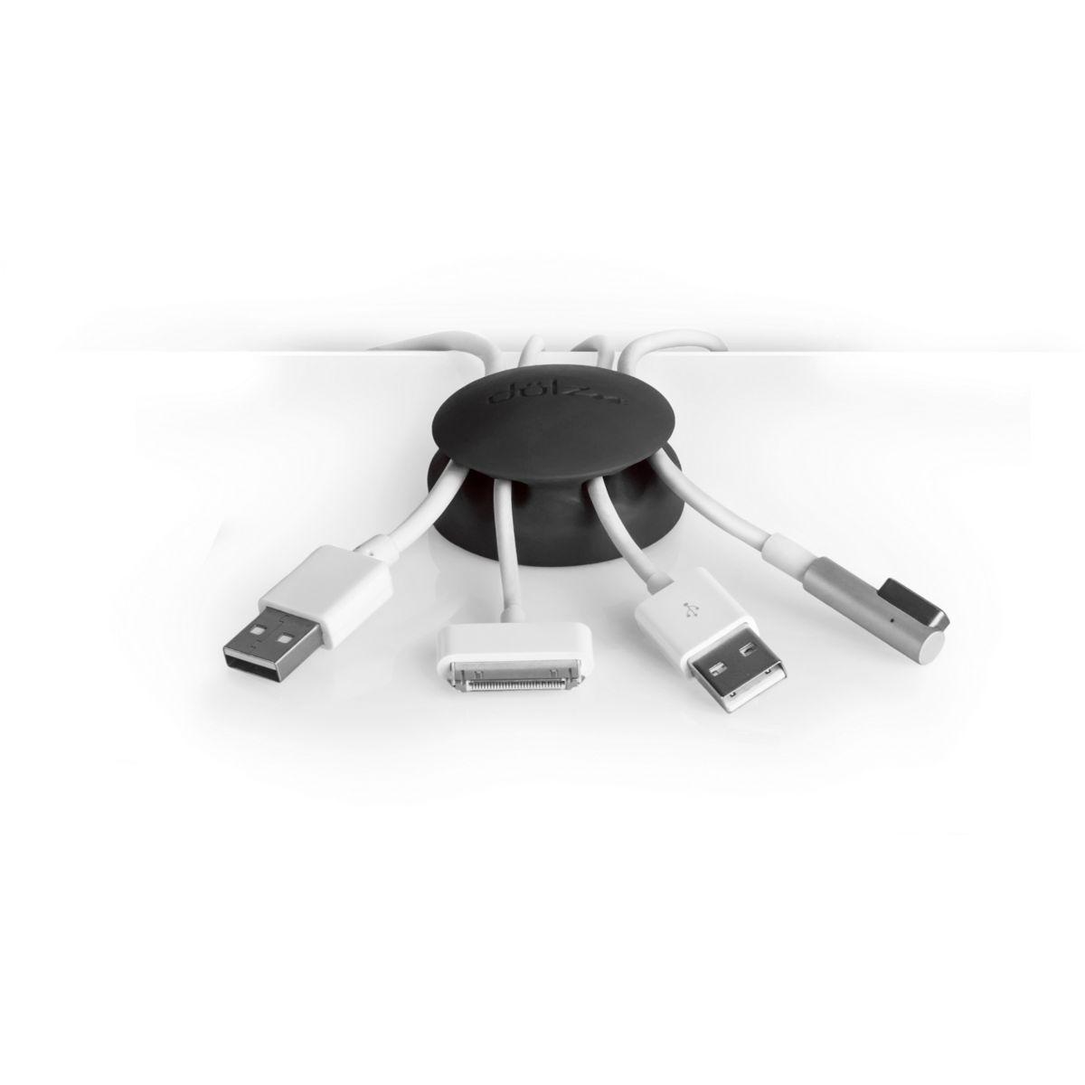 Dotz fixation/maintien des câbles noir - 3% de remise immédiate avec le code : multi3 (photo)