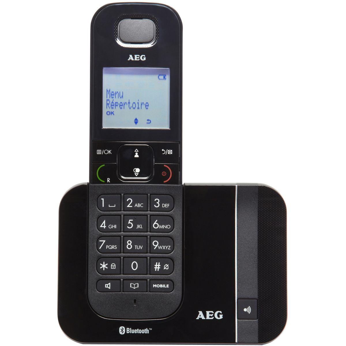 T?l?phone sans fil aeg voxtel d550bt solo noir - 10% de remise imm?diate avec le code : wd10