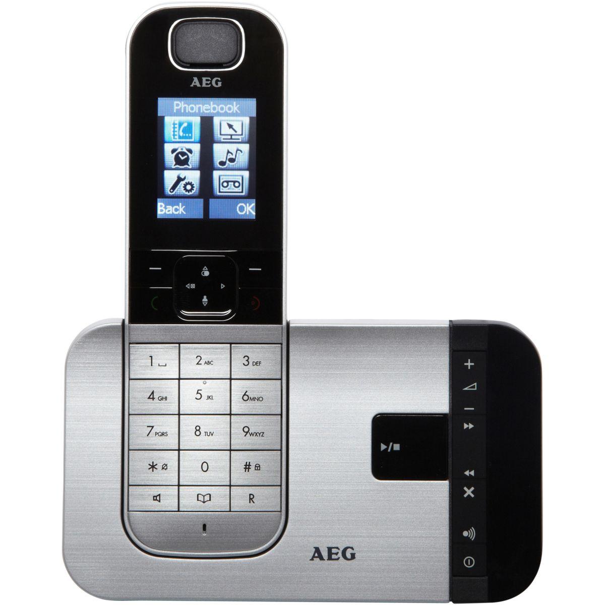 Téléphone répondeur sans fil aeg voxtel d575 argent solo - 3% de remise immédiate avec le code : multi3