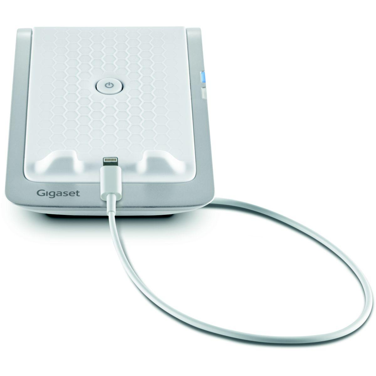 Dock gigaset lm 550i mobile dock ios blanc - livraison offerte avec le code livofferte (photo)