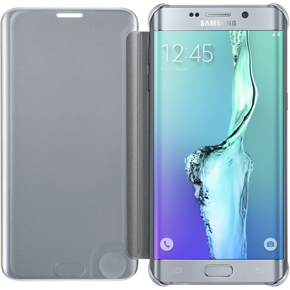 Etui samsung clear view galaxy s6 edge plus silver - soldes et bons plans