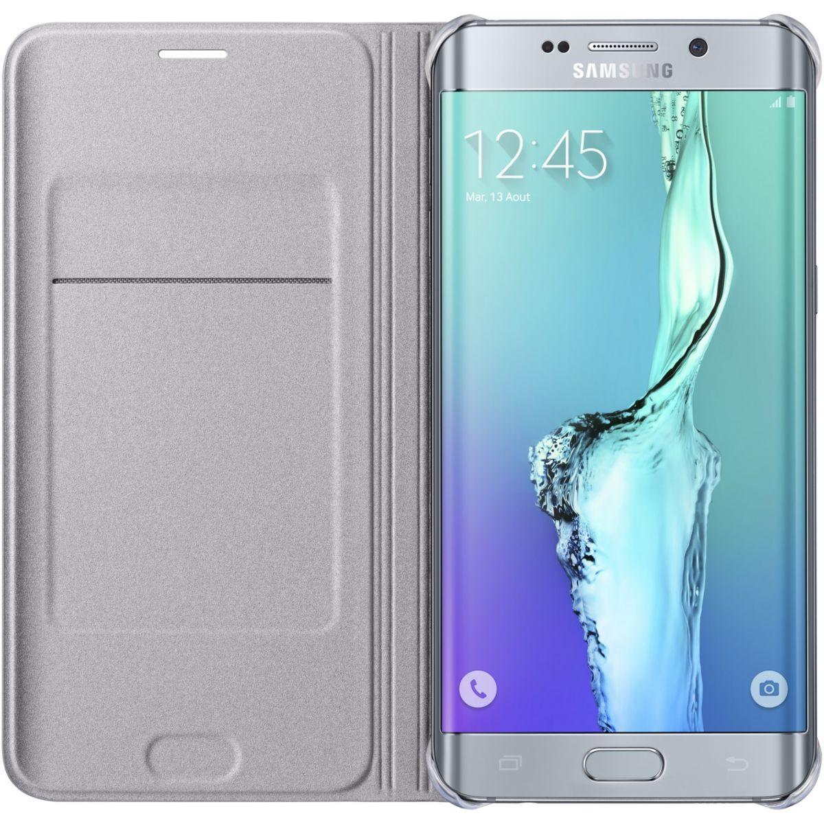 Etui samsung flip wallet galaxy s6 edge plus silver - 2% de remise imm?diate avec le code : black2