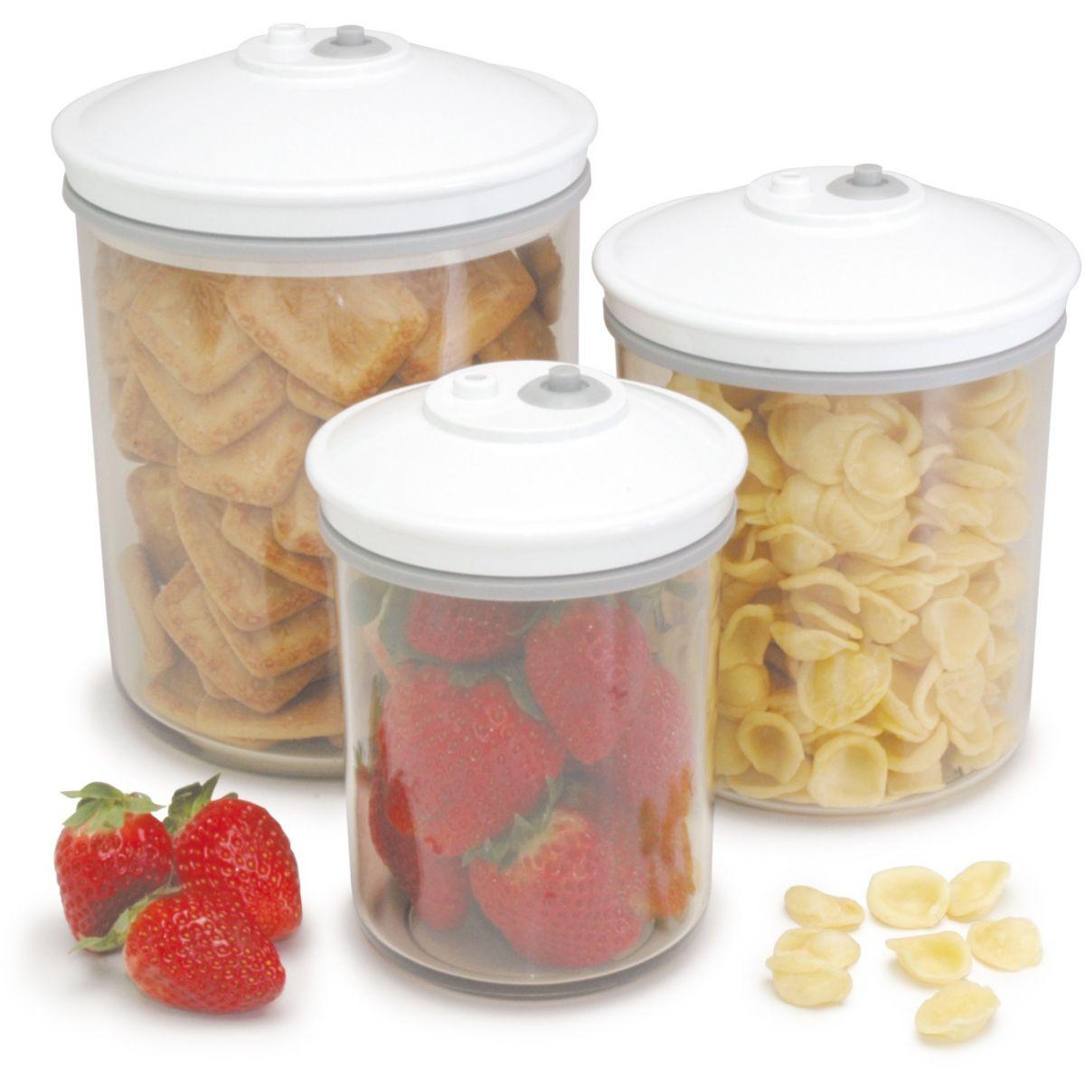 Accessoire food saver lot de 3 bocaux de - produit coup de coeur webdistrib.com ! (photo)