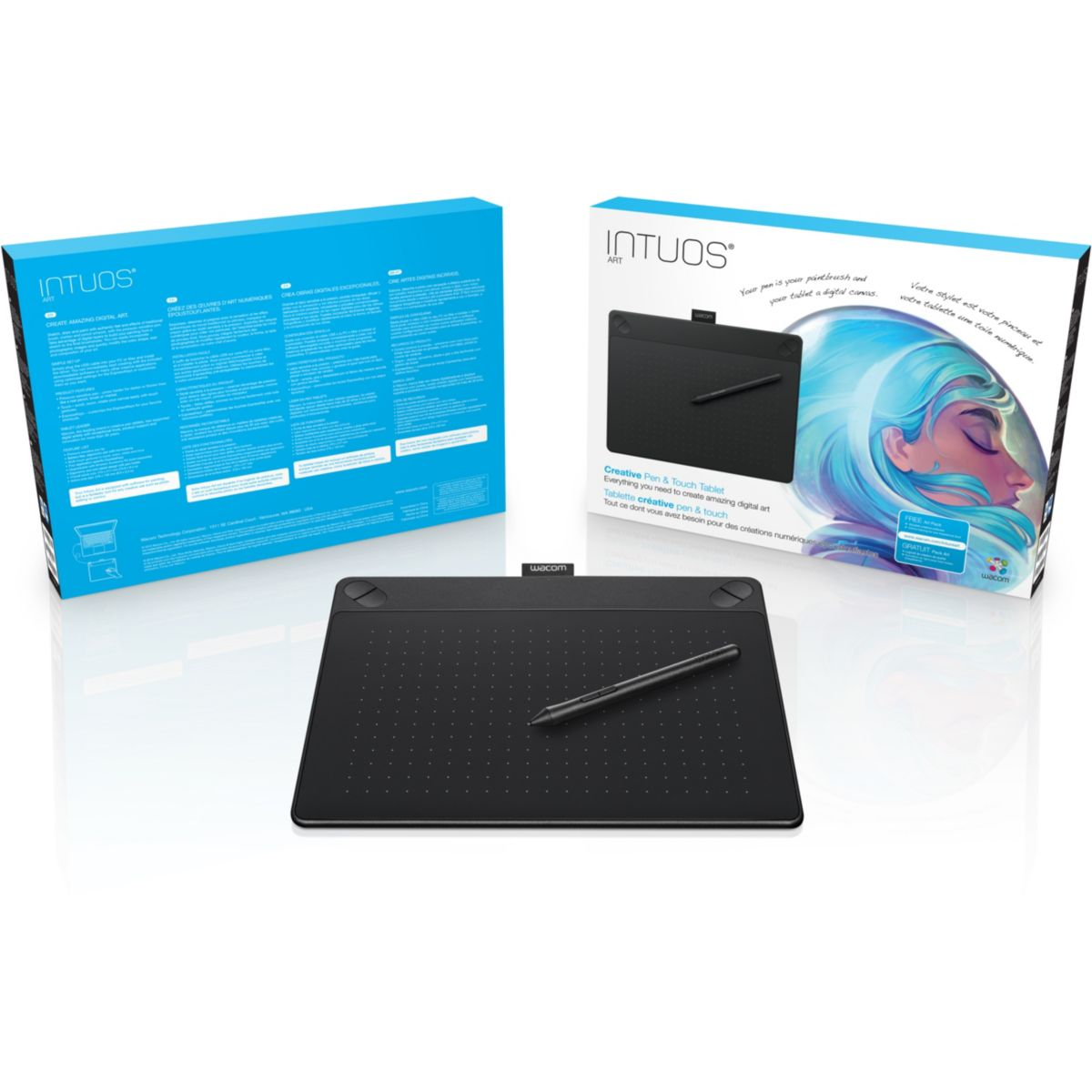 Tablette graph wacom intuos art black pe – 5 € de remise : code cash5