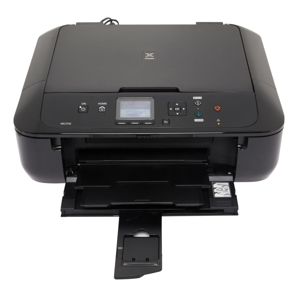 informatique imprimante multifonction jet d 39 encre canon mg5750 noir. Black Bedroom Furniture Sets. Home Design Ideas