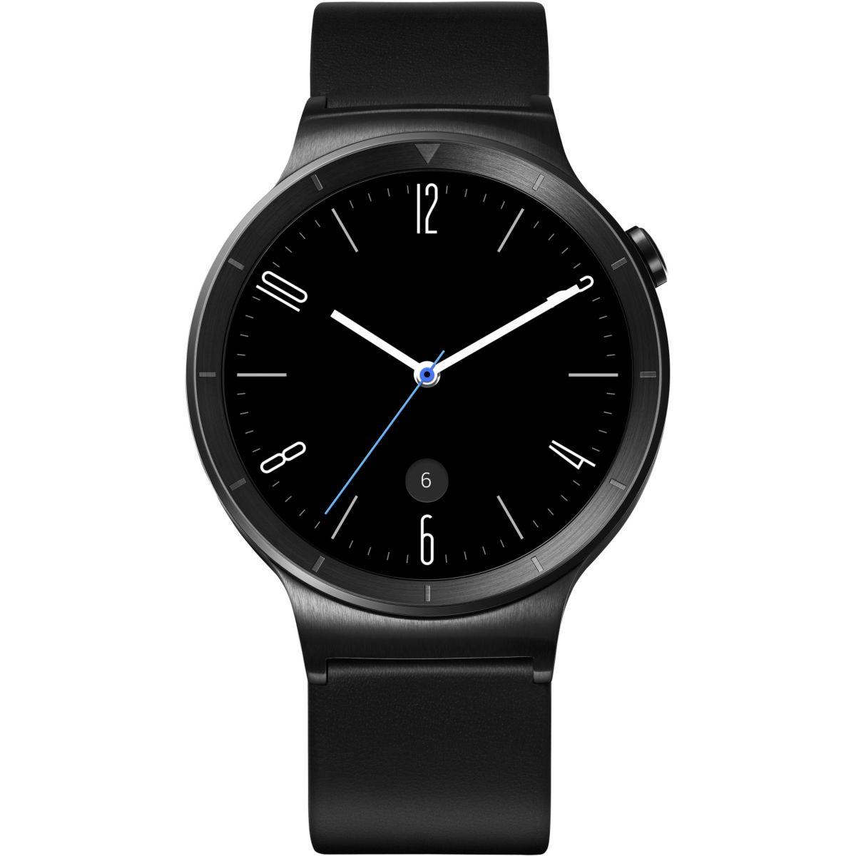 Montre connectée huawei watch active noir/cuir - 10% de remise immédiate avec le code : top10 (photo)