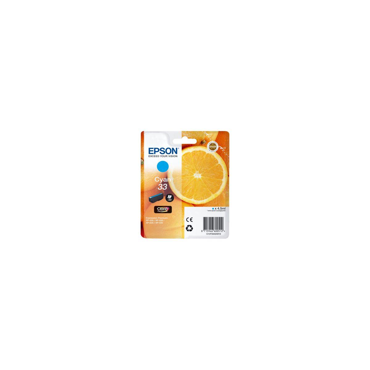 Cartouche d'encre epson t3342 cyan premium s�rie orange
