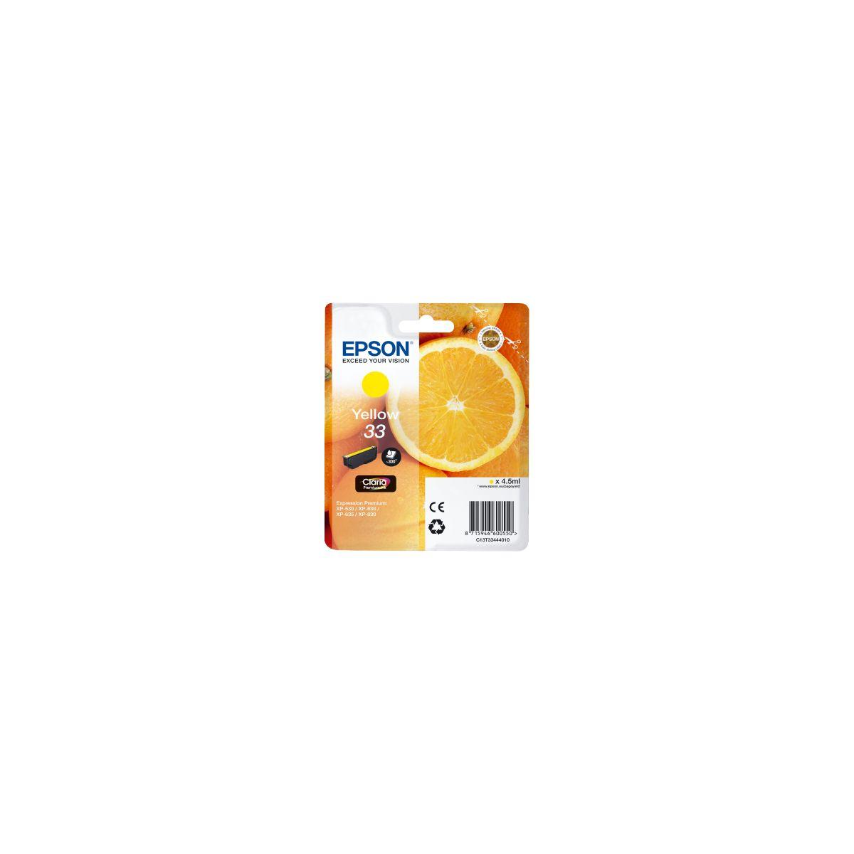 Cartouche d'encre epson t3344 jaune premium s�rie orange