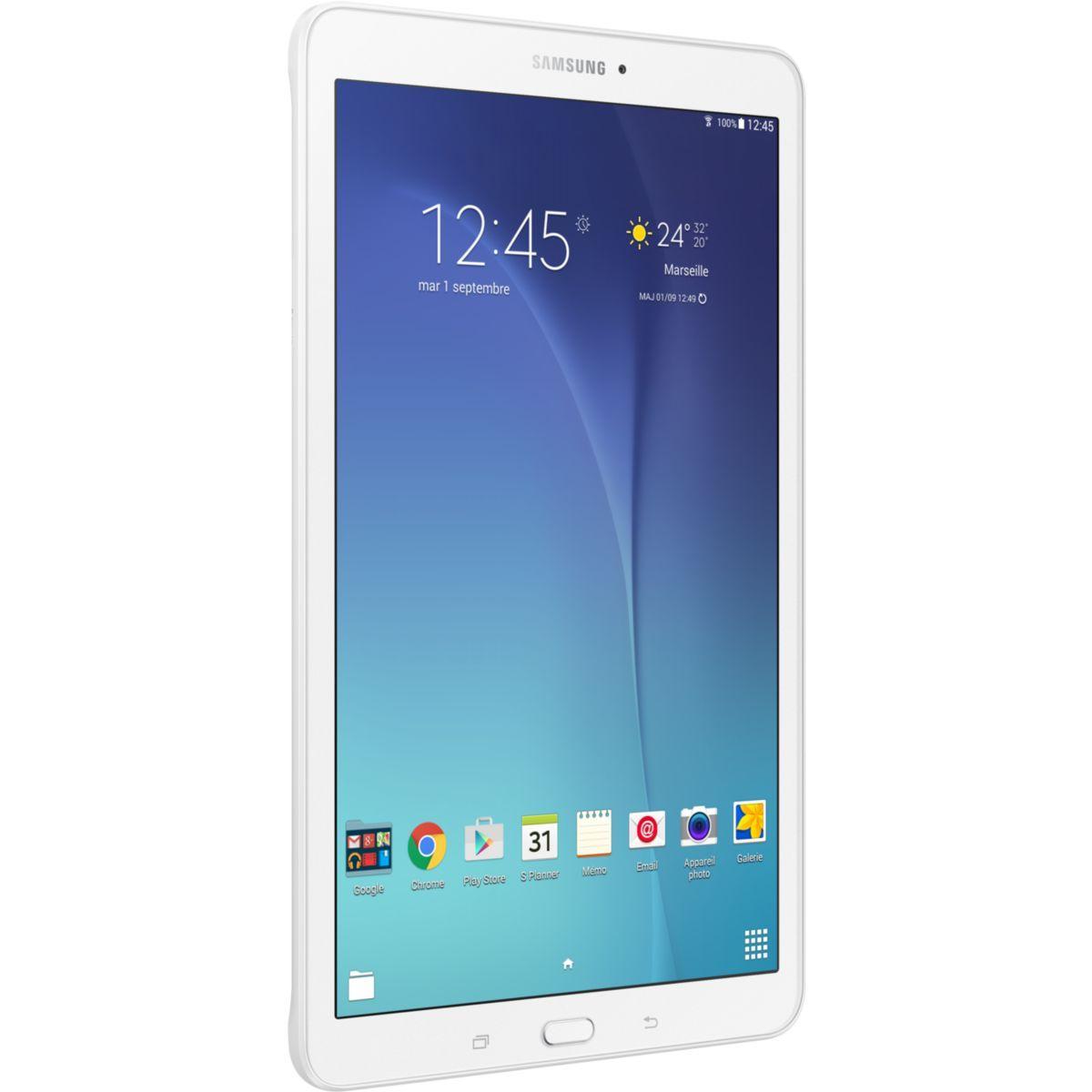 Tablette android samsung galaxy tab e 9.6'' blanc
