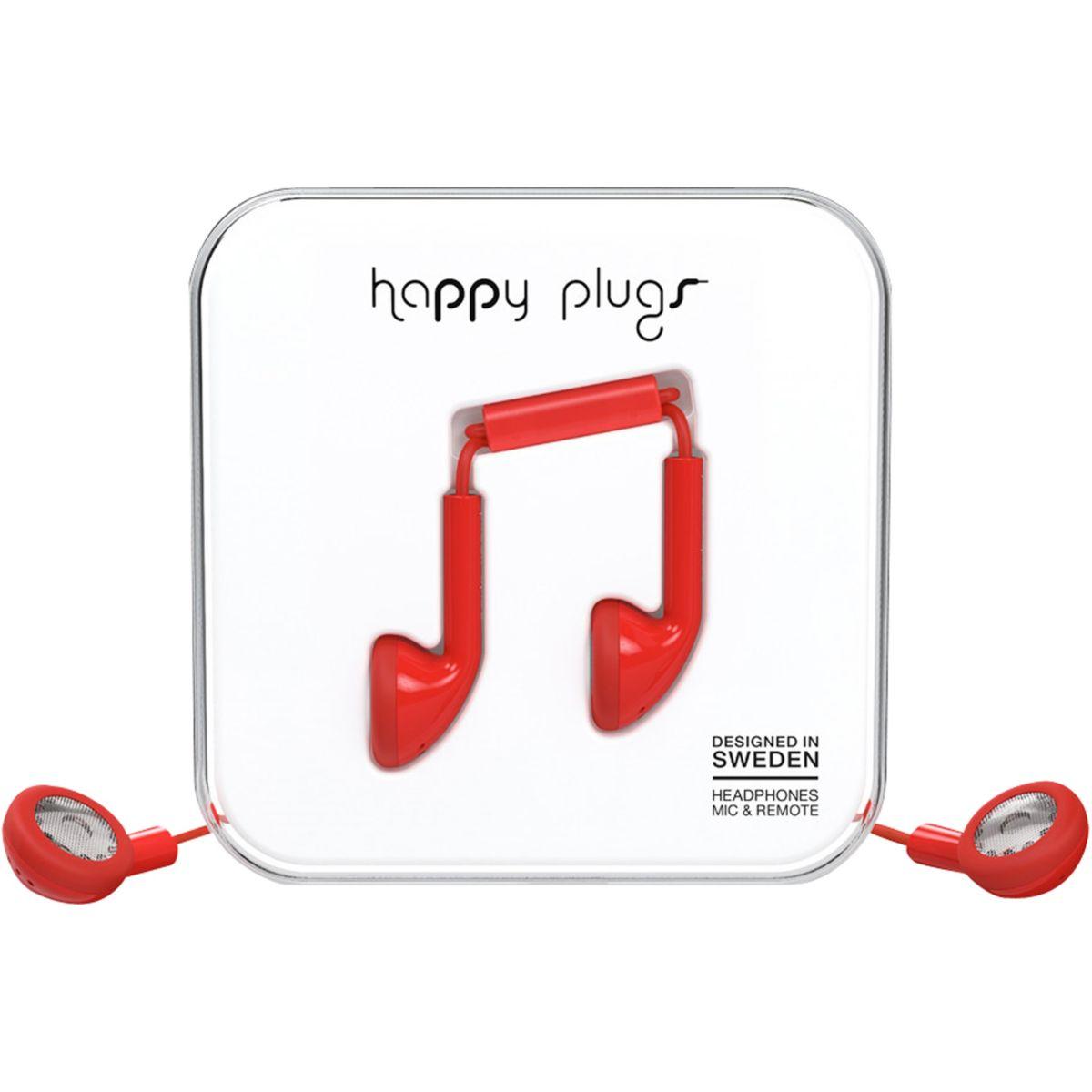 Ecouteurs avec micro happy plugs earbud red - 7% de remise immédiate avec le code : multi7