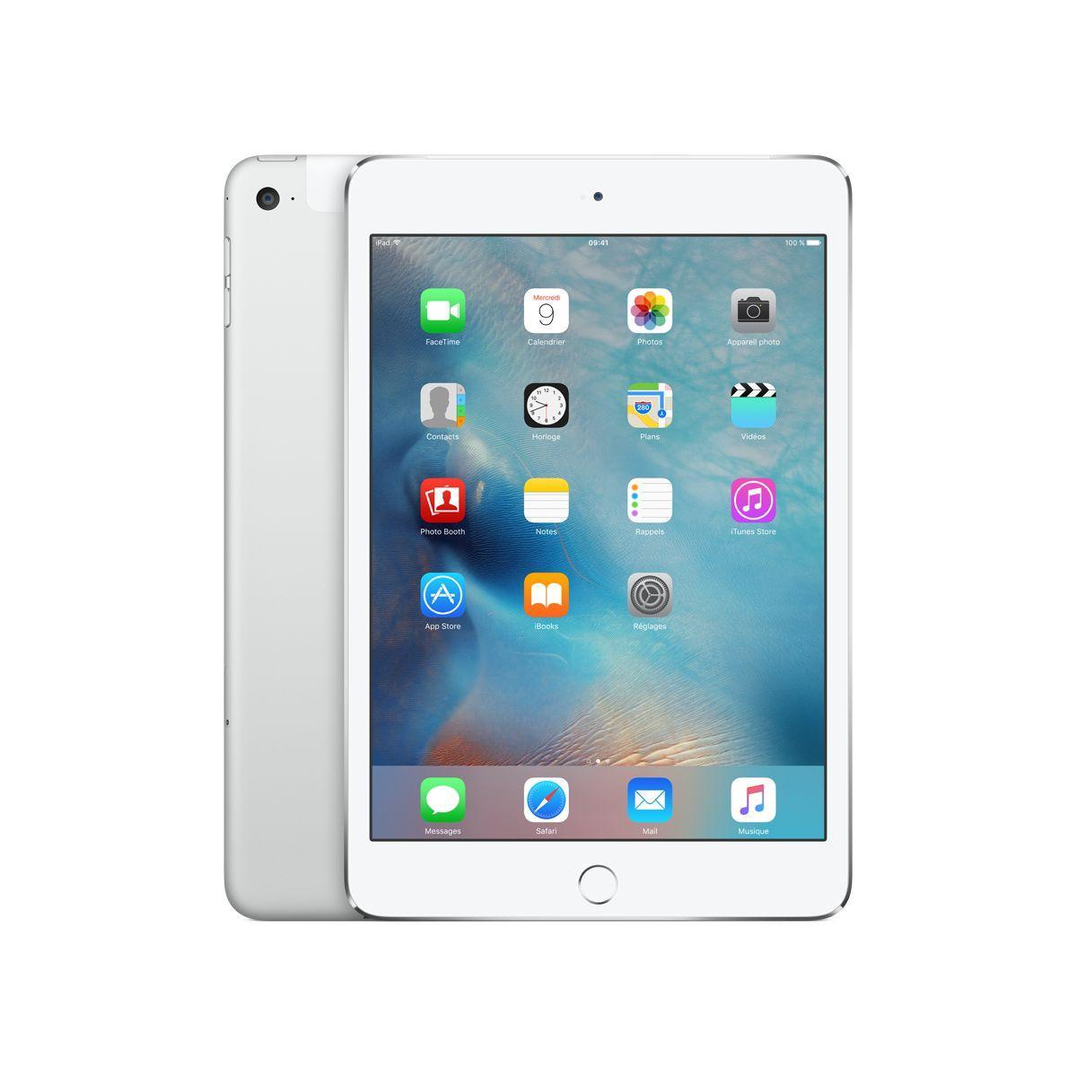 Tablette apple ipad mini 4 128go cel. argent - livraison offerte : code livrelais (photo)