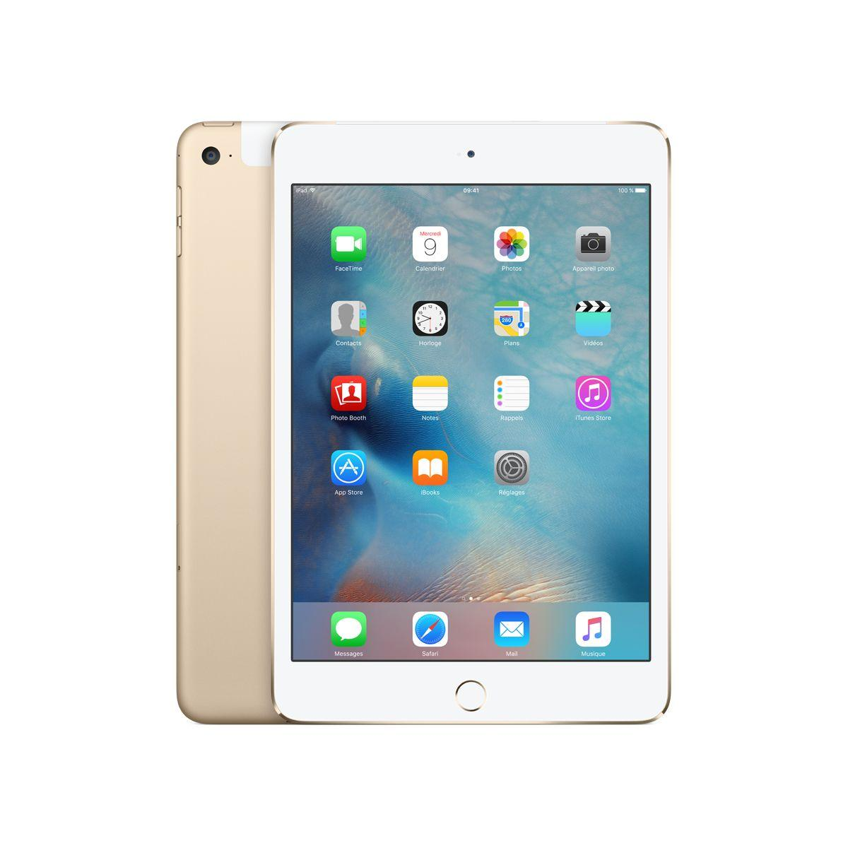 Apple ipad mini 4 128go cellular or - livraison offerte : code livrelais (photo)