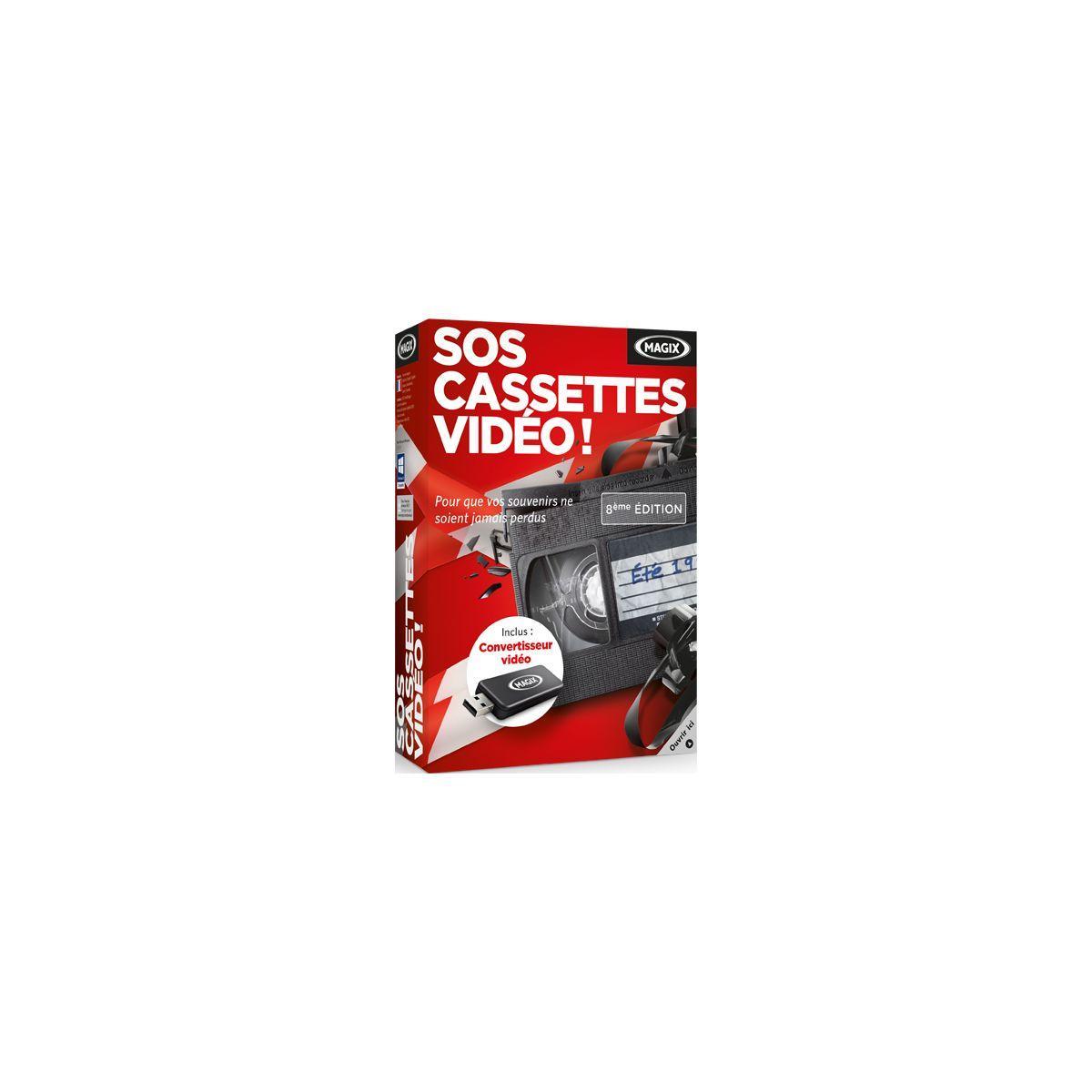 Logiciel pc magix sos cassettes video 8 – 5 € de remise : code cash5
