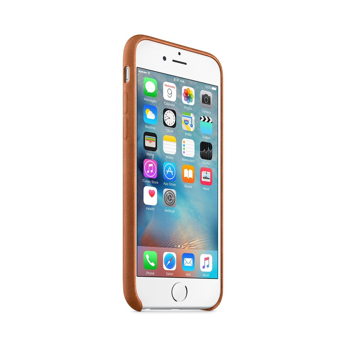 Coque apple iphone 6s cuir havane (photo)