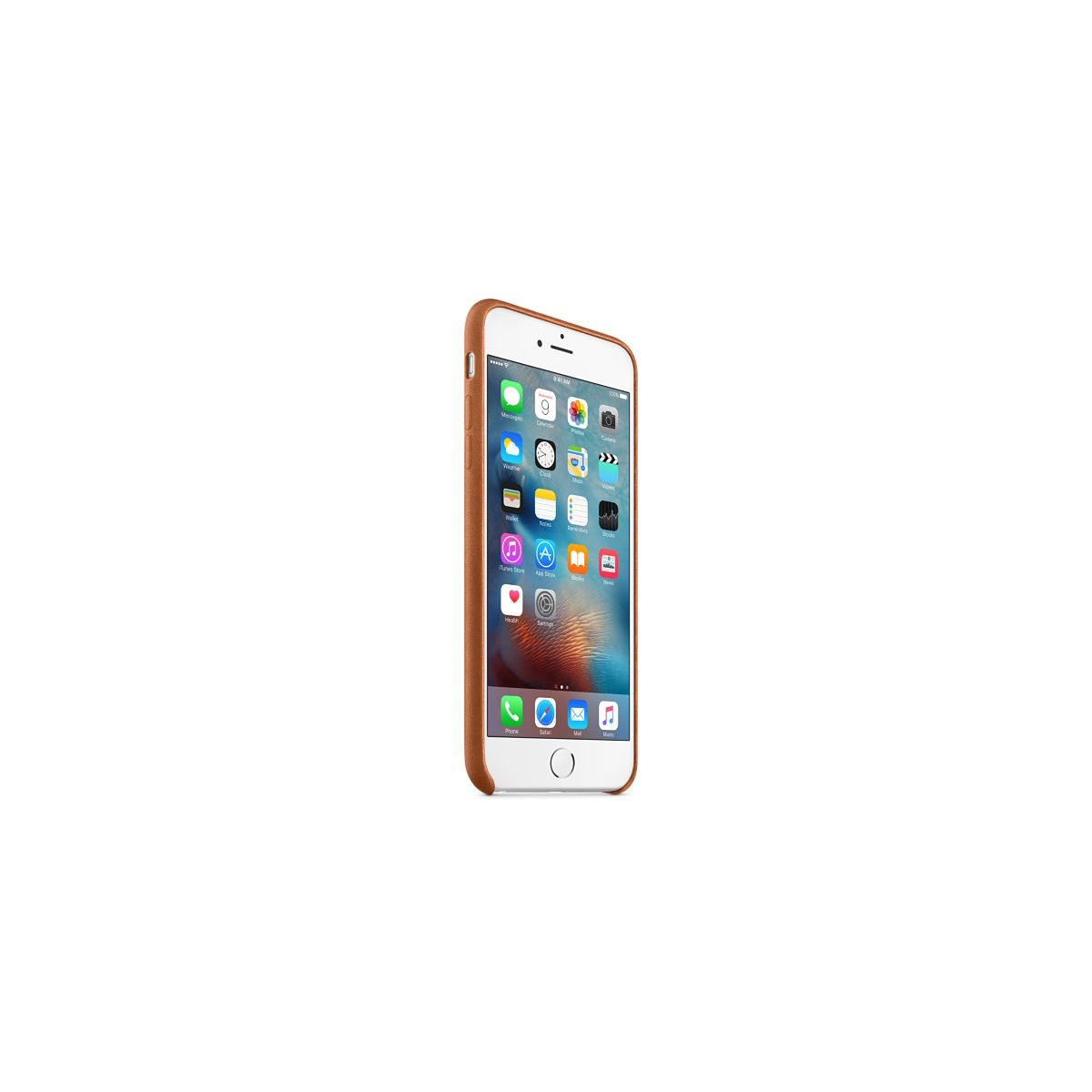 Coque apple iphone 6s plus cuir havane (photo)