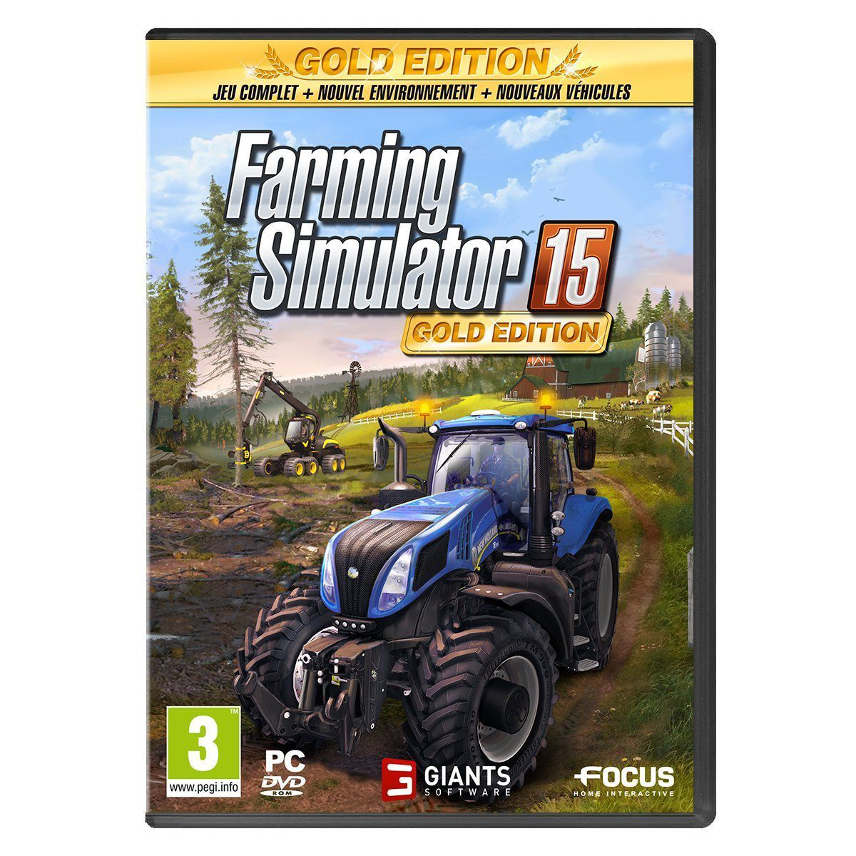 Jeu pc focus farming simulator 15 gold edition - 3% de remise immédiate avec le code : multi3 (photo)
