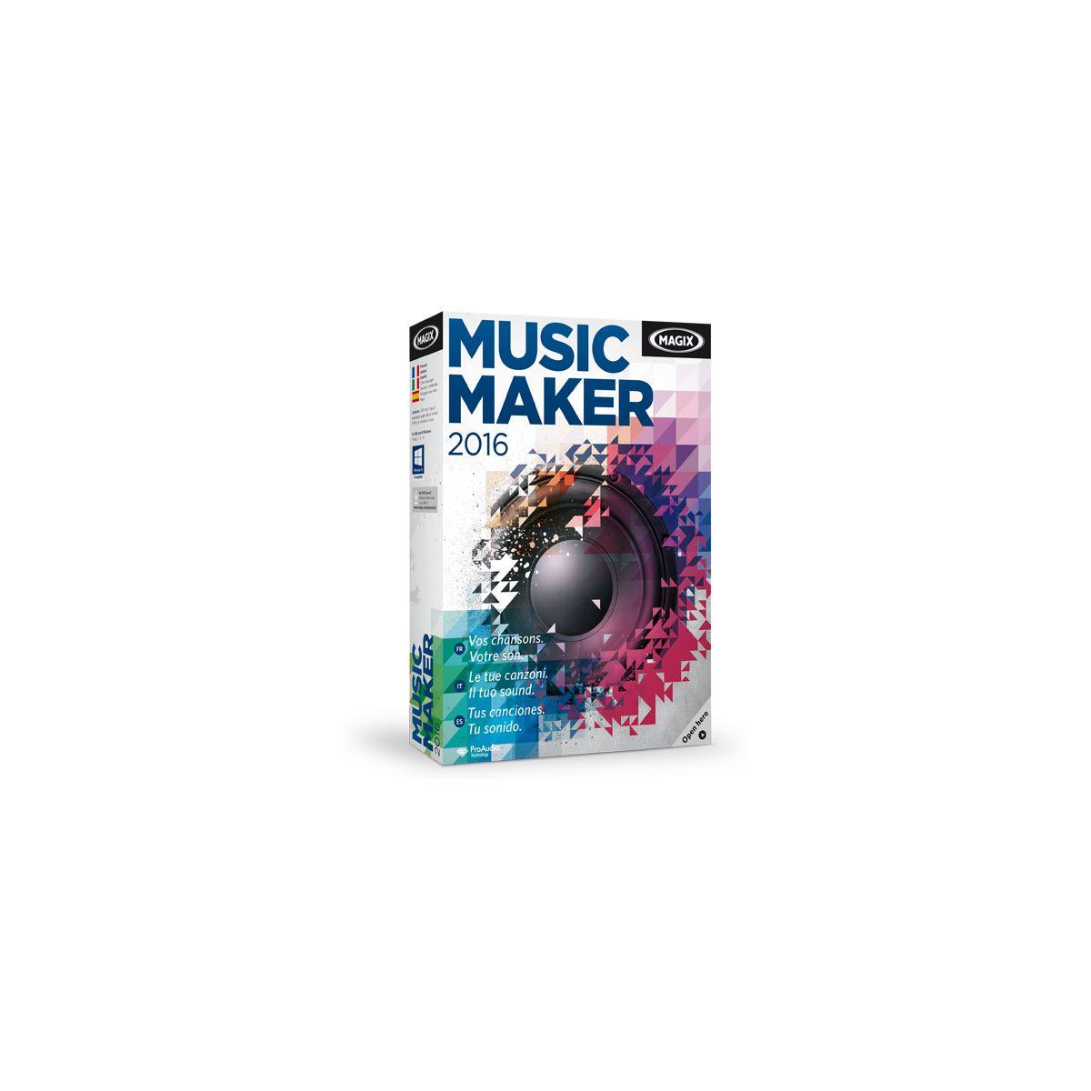 Logiciel pc magix music maker 2016 – 5 € de remise : code cash5