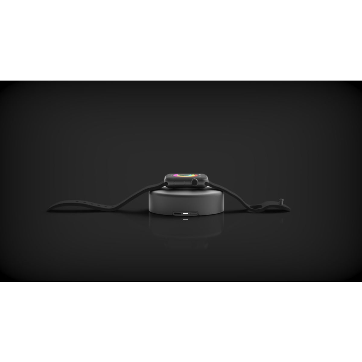 T l phonie gps chargeur induction nomad pod space grey for Meuble chargeur induction
