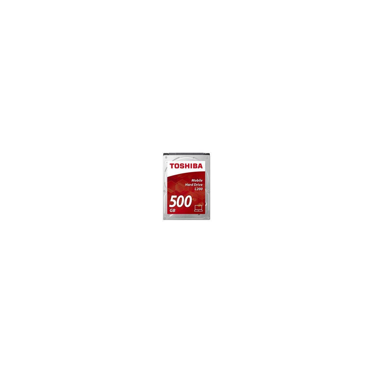 Disque dur interne toshiba 2,5 500go sata l200 - 2% de remise imm?diate avec le code : black2
