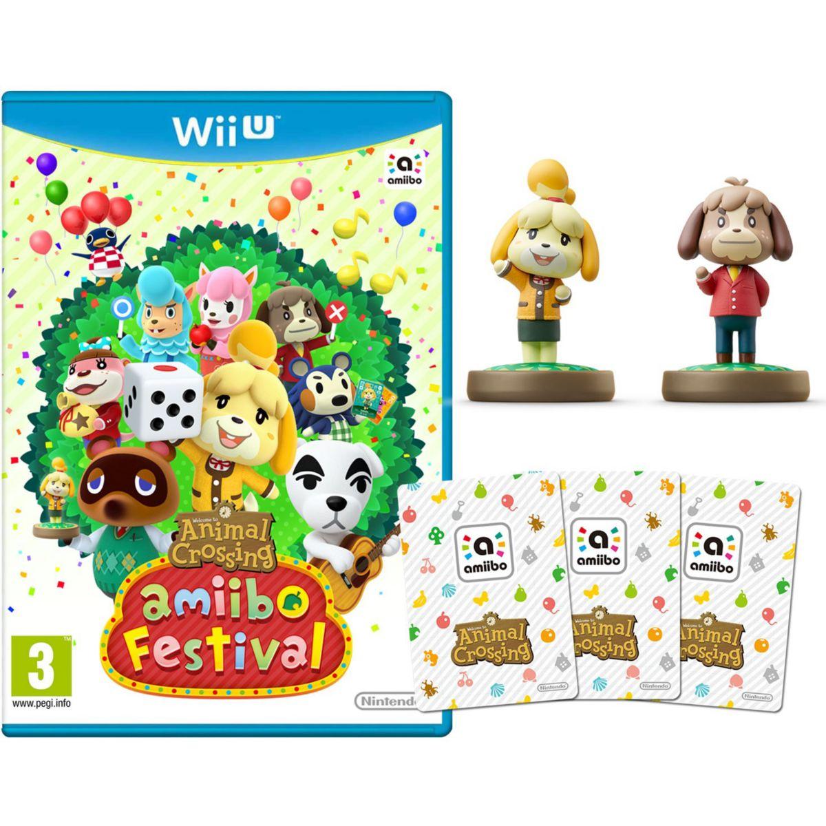 Jeu wii u nintendo animal crossing amiibo festival 2 figurines 3 cartes soldes et bonnes affaires à prix imbattables
