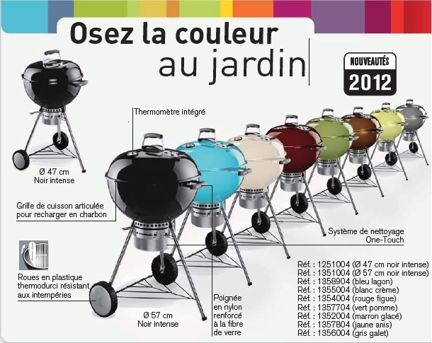 barbecue weber one touch premium 47