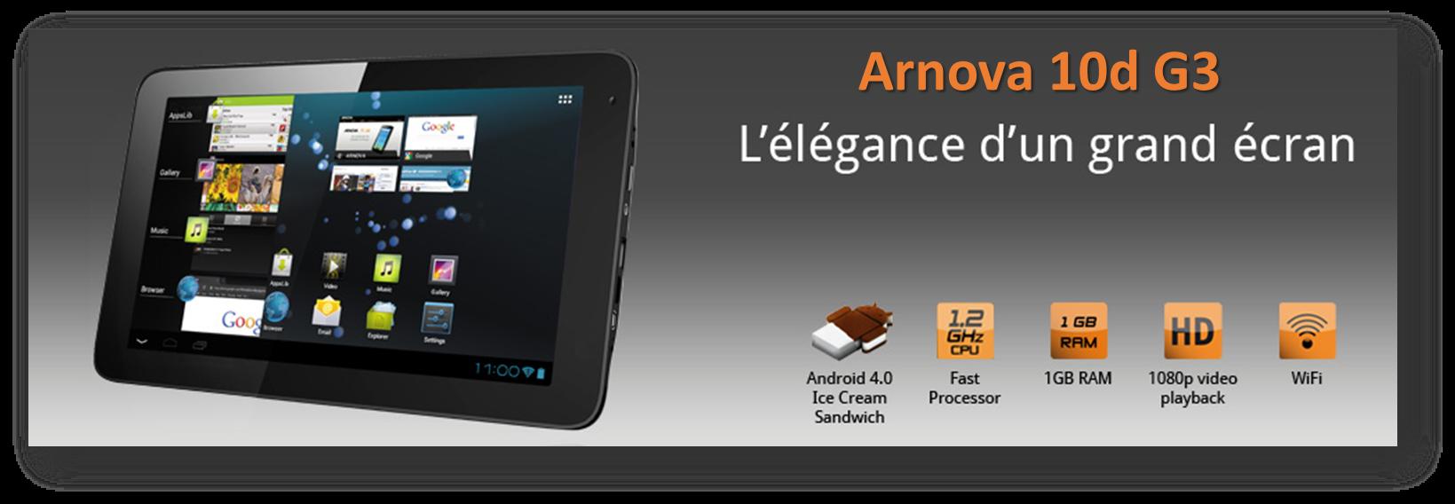 Tablette tactile ARCHOS Arnova D G noir  p