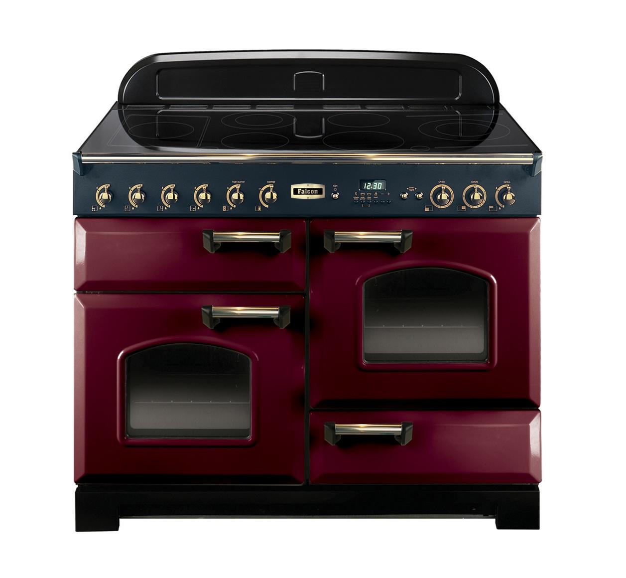 piano de cuisson clas110 induc rouge laiton falcon. Black Bedroom Furniture Sets. Home Design Ideas