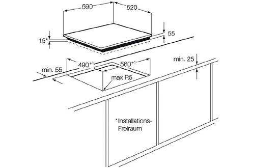 table de cuisson induction fei6532fsa faure. Black Bedroom Furniture Sets. Home Design Ideas