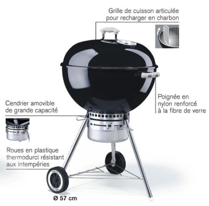 barbecue weber 57 cm charbon