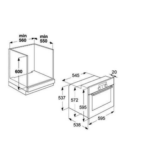 dimension meuble pour four encastrable. Black Bedroom Furniture Sets. Home Design Ideas