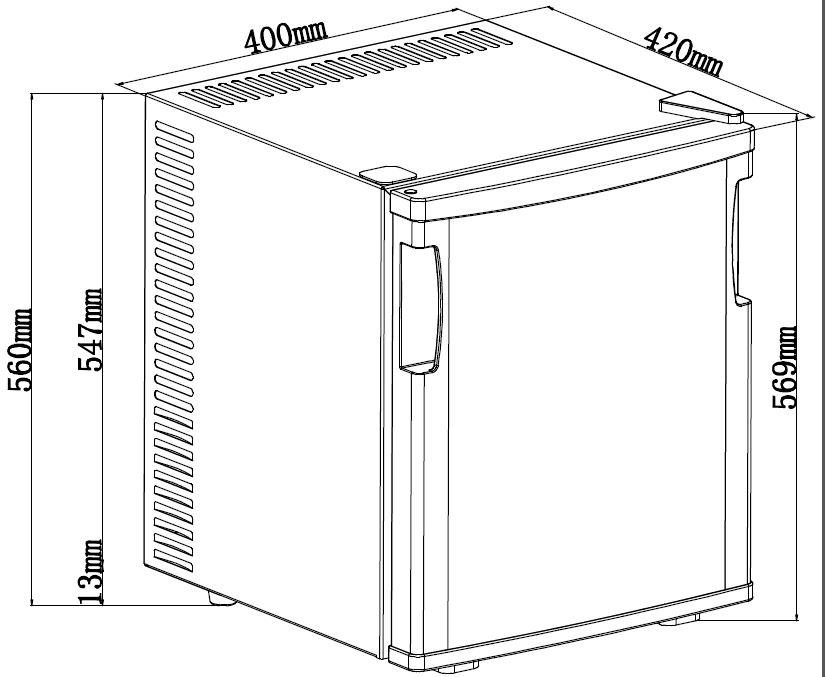 mini r frig rateur mb40n brandy best. Black Bedroom Furniture Sets. Home Design Ideas