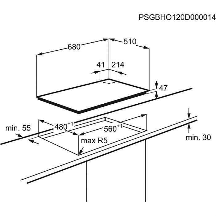 table de cuisson gaz egt7353yok electrolux. Black Bedroom Furniture Sets. Home Design Ideas