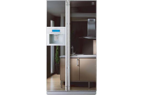 R frig rateur am ricain frst22dam daewoo for Refrigerateur americain porte miroir