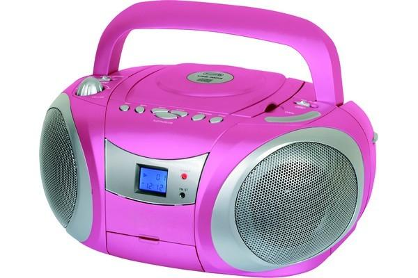 radio cd cassette pop color rose essentiel b. Black Bedroom Furniture Sets. Home Design Ideas