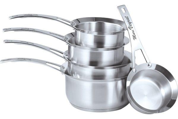 set de po les et casseroles 5 casseroles inox 12 14 16 18 20 cm art cuisine. Black Bedroom Furniture Sets. Home Design Ideas